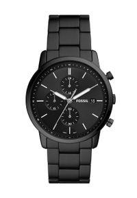 Fossil - FOSSIL - Zegarek FS5848. Kolor: czarny. Materiał: materiał