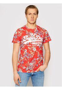 Superdry T-Shirt Vl Aop M1010999A Czerwony Regular Fit. Kolor: czerwony #1