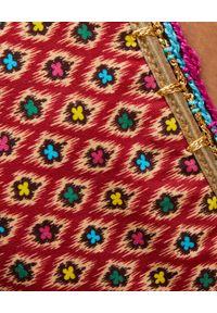 ANJUNA - Strój kąpielowy Carina. Kolor: brązowy. Materiał: dzianina, materiał. Wzór: ażurowy, geometria, aplikacja