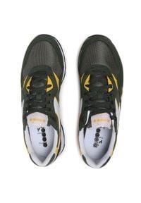 Zielone buty sportowe Diadora z cholewką