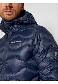 Niebieska kurtka puchowa Peak Performance