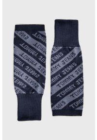 Tommy Jeans - Ocieplacze. Kolor: niebieski. Materiał: bawełna, dzianina