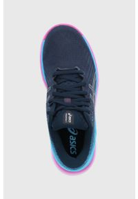 Asics - Buty GlideRide 2. Nosek buta: okrągły. Zapięcie: sznurówki. Kolor: niebieski. Materiał: guma
