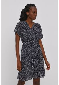 Haily's - Sukienka. Kolor: czarny. Długość rękawa: krótki rękaw. Typ sukienki: rozkloszowane