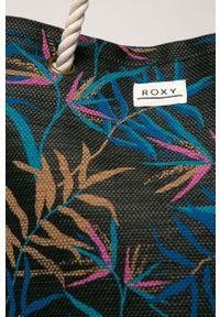 Czarna torba plażowa Roxy duża, na ramię