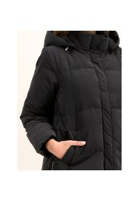 Czarny płaszcz zimowy Pennyblack