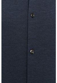 Niebieska koszula Hugo casualowa, z klasycznym kołnierzykiem, z długim rękawem