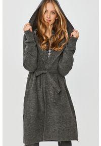 Szary sweter Answear Lab wakacyjny, z kapturem, z długim rękawem, długi