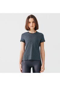 KALENJI - Koszulka do biegania damska Kalenji Run Soft. Kolor: szary. Materiał: materiał, poliester. Sport: bieganie