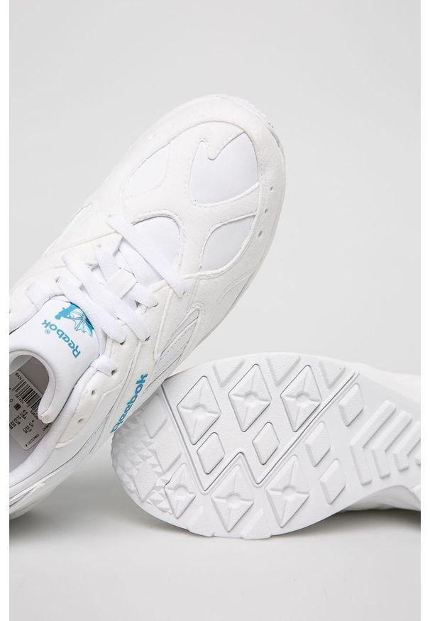 Białe buty sportowe Reebok Classic na sznurówki, z okrągłym noskiem