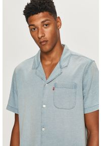 Niebieska koszula Levi's® z klasycznym kołnierzykiem, na spotkanie biznesowe