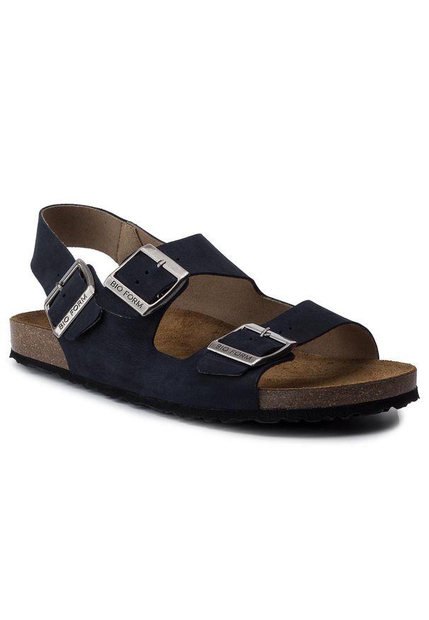 Niebieskie sandały Nik klasyczne, na lato