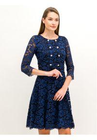 Niebieska sukienka koktajlowa Luisa Spagnoli wizytowa