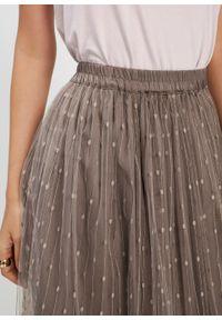 Długa spódnica bonprix brązowy. Kolor: szary. Długość: długie