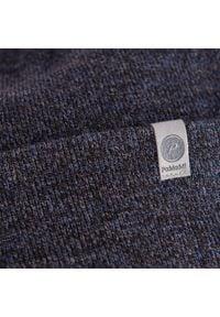 Czapka męska PaMaMi - Granatowa mulina. Kolor: niebieski. Materiał: akryl. Sezon: zima, wiosna, jesień