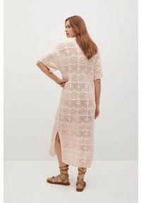 Sukienka mango w koronkowe wzory, casualowa