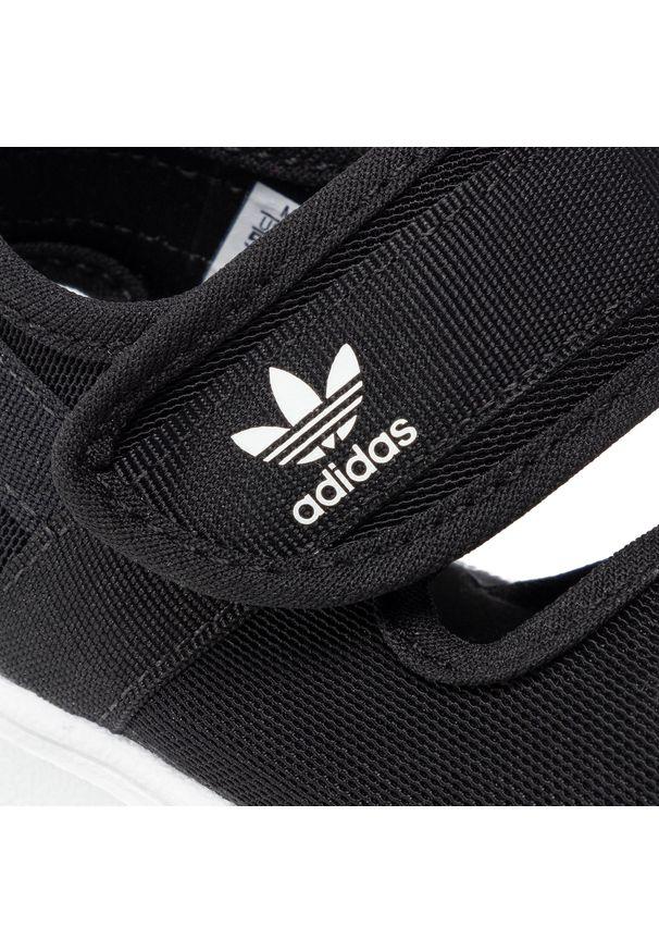 Czarne sandały Adidas
