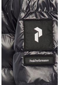 Czarna kurtka Peak Performance raglanowy rękaw, z kapturem, casualowa