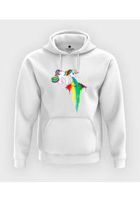 MegaKoszulki - Bluza z kapturem Rainbow vomit. Typ kołnierza: kaptur