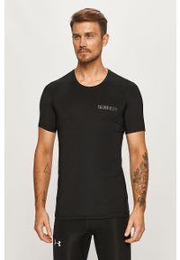 Czarny t-shirt Calvin Klein Performance z nadrukiem, z okrągłym kołnierzem