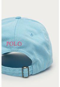Niebieska czapka z daszkiem Polo Ralph Lauren gładkie