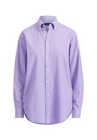 Ralph Lauren - RALPH LAUREN - Koszula Oxford. Typ kołnierza: polo. Kolor: wielokolorowy, fioletowy, różowy. Materiał: materiał, bawełna. Długość rękawa: długi rękaw. Długość: długie. Wzór: haft #4