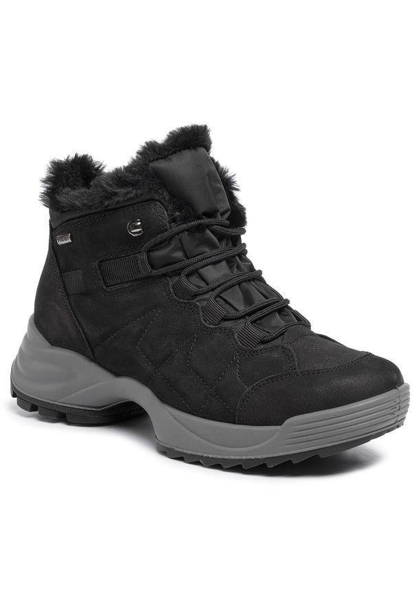 Czarne buty trekkingowe Imac trekkingowe, z cholewką
