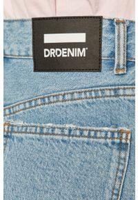 Niebieskie szorty Dr. Denim na co dzień, z podwyższonym stanem, gładkie, casualowe