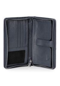 Wittchen - Damski portfel skórzany z kieszenią na telefon. Materiał: skóra