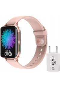Różowy zegarek ZAXER smartwatch