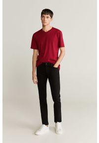 Czerwony t-shirt Mango Man casualowy, na co dzień #6