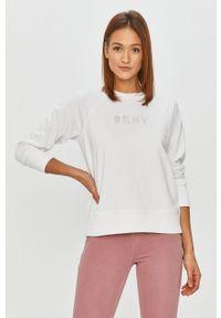 Biała bluza DKNY na co dzień, z aplikacjami, bez kaptura, casualowa