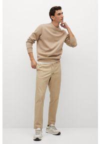 Brązowa bluza nierozpinana Mango Man na co dzień, casualowa, bez kaptura