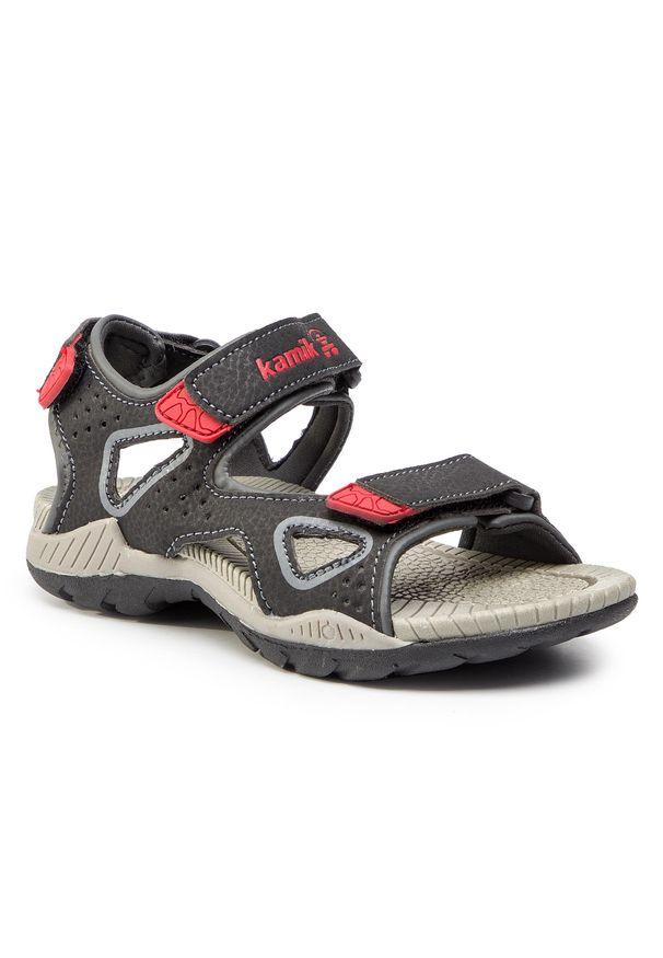 Czarne sandały Kamik