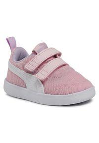Puma Sneakersy Courtflex v2 Mesh V Inf 371759 08 Różowy. Kolor: różowy. Materiał: mesh