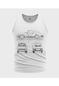 MegaKoszulki - Koszulka męska bez rękawów Porsche drawing. Materiał: bawełna. Długość rękawa: bez rękawów