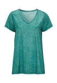 Zielona koszulka sportowa Cellbes z motywem zwierzęcym, długa