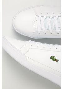 Lacoste - Buty skórzane Challenge 01020 2 SMA. Nosek buta: okrągły. Zapięcie: sznurówki. Kolor: biały. Materiał: skóra. Szerokość cholewki: normalna #4
