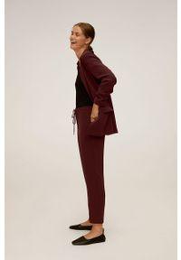 Brązowe spodnie materiałowe mango casualowe, na co dzień