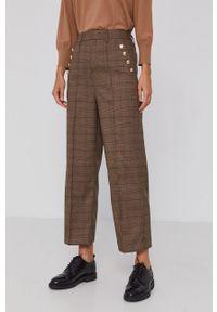 Mos Mosh - Spodnie. Okazja: na co dzień. Stan: podwyższony. Kolor: brązowy. Styl: casual