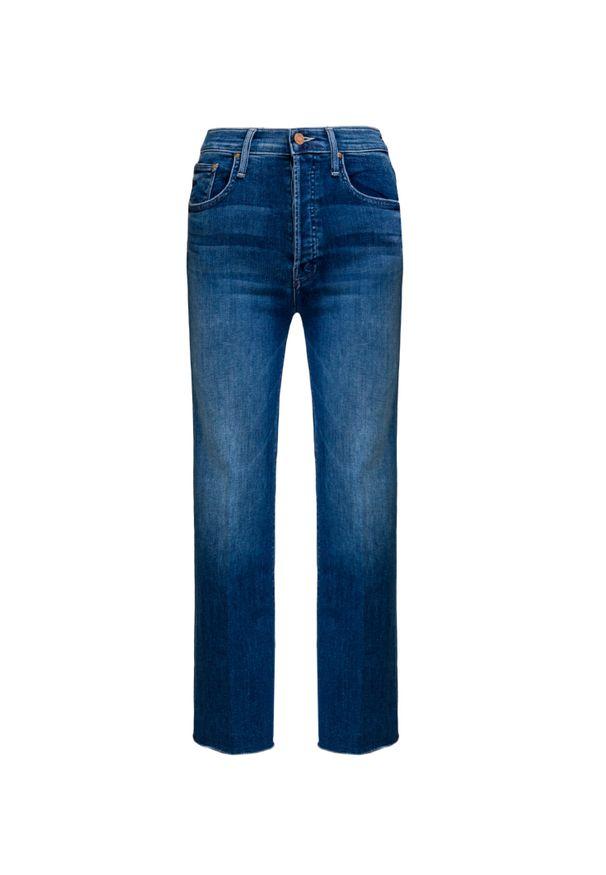 Niebieskie spodnie Mother retro, w kolorowe wzory, na lato