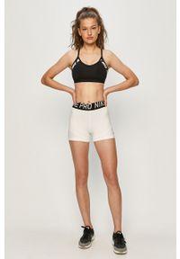 Czarny biustonosz sportowy Nike Dri-Fit (Nike), z nadrukiem, z odpinanymi ramiączkami