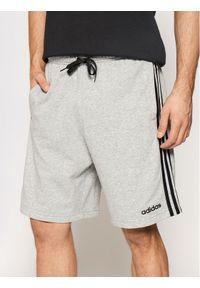 Adidas - adidas Szorty sportowe Essentials 3-Stripes French Terry DU7831 Szary Regular Fit. Kolor: szary