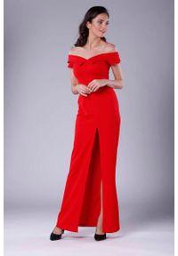 Czerwona sukienka wieczorowa Nommo maxi