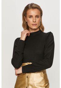 Czarny sweter Vero Moda casualowy, długi, z długim rękawem, na co dzień