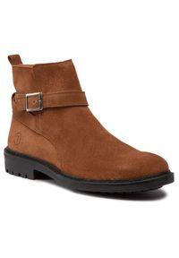 Brązowe buty zimowe Trussardi Jeans