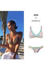 KIINI - Top od bikini Luna. Kolor: beżowy. Materiał: nylon, materiał, poliester