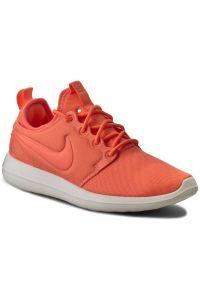 Pomarańczowe półbuty Nike z cholewką, na co dzień, casualowe