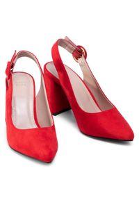 Jenny Fairy - Sandały JENNY FAIRY - LS5233-01 Red. Okazja: na co dzień. Kolor: czerwony. Materiał: materiał. Sezon: lato. Obcas: na obcasie. Styl: casual. Wysokość obcasa: średni