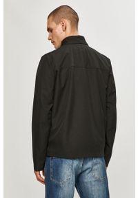 Czarna kurtka Geox casualowa, bez kaptura, na co dzień, gładkie
